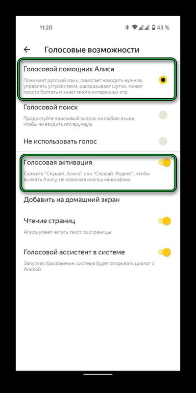 Голосовые возможности Яндекс.Браузер